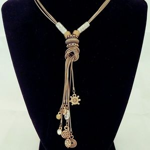 Rustic Chico's Wrapped Dangle Charm Necklace